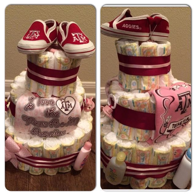 Diaper cakes make GREAT shower gifts- it\'s an adorable way to give ...