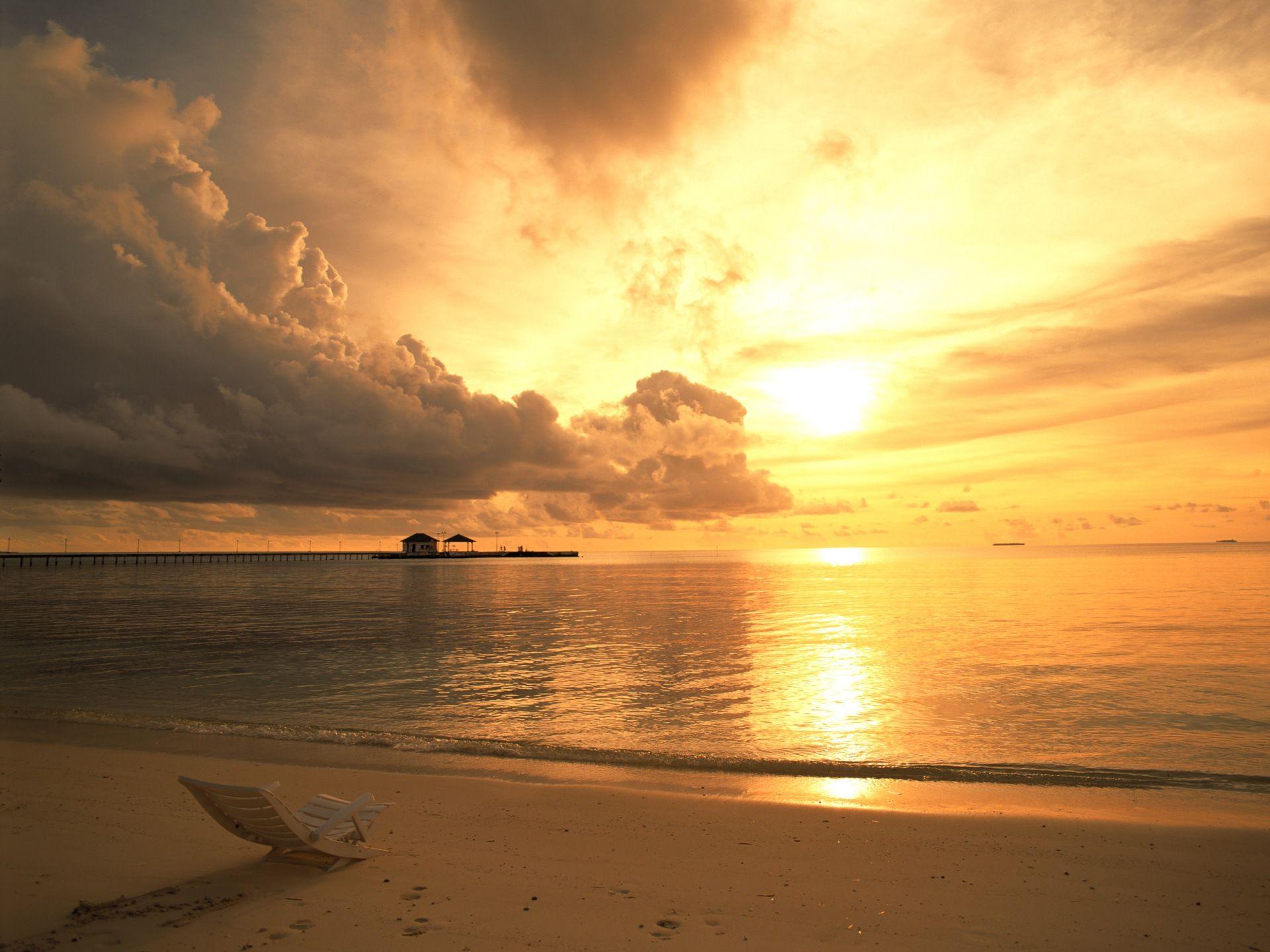 Beach Sunset Wallpaper Desktop Hd Background 9 HD Wallpapers
