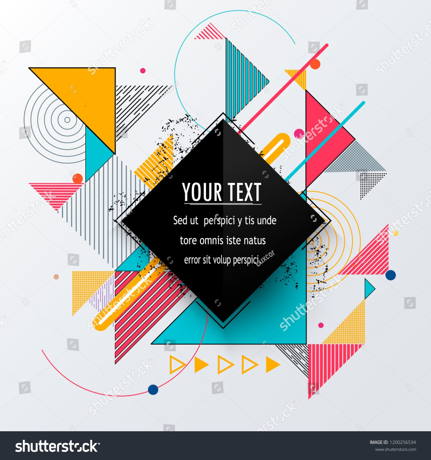 Vector Of Abstract Geometric Pattern And Background Sponsored