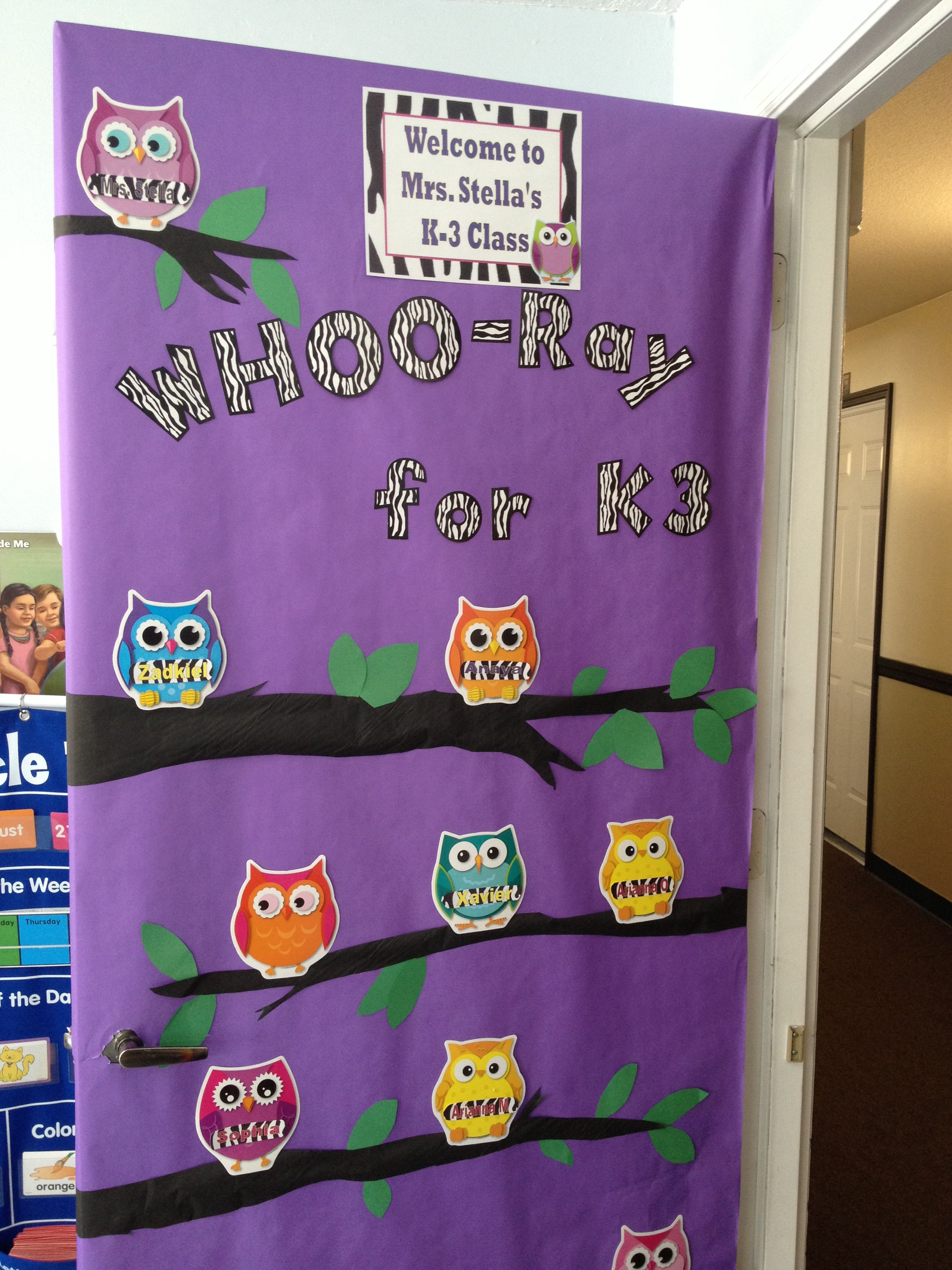 Owl themed classroom door | Classroom | Pinterest ...