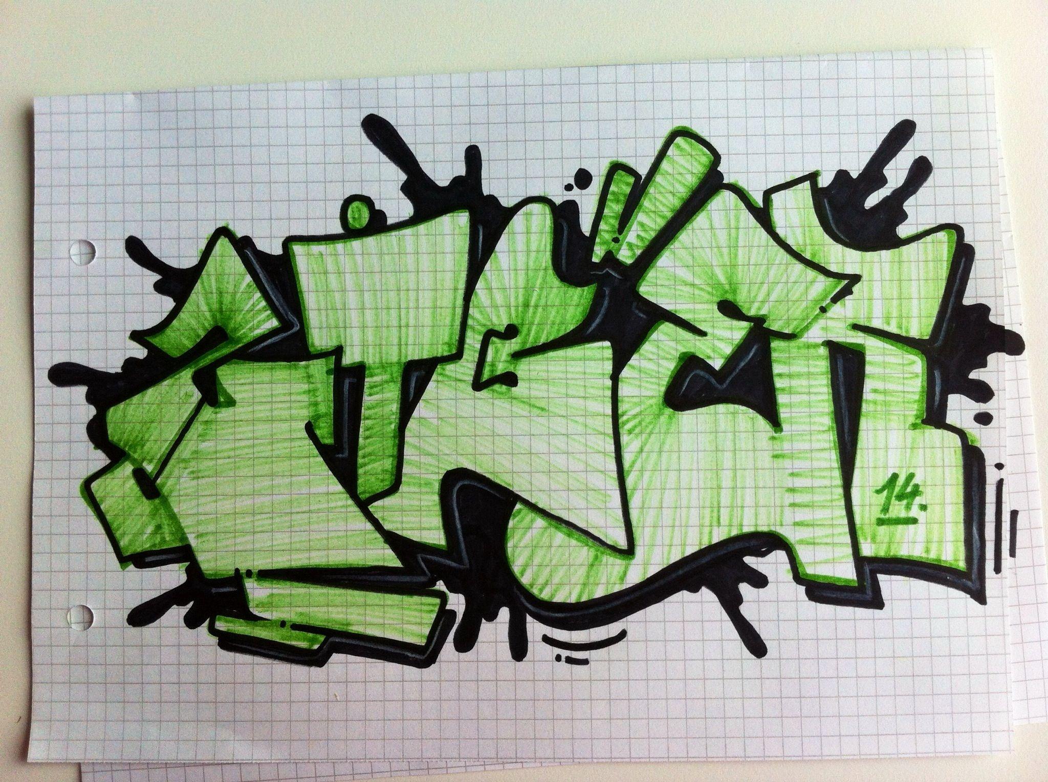 фотки граффити на листочке бумагами
