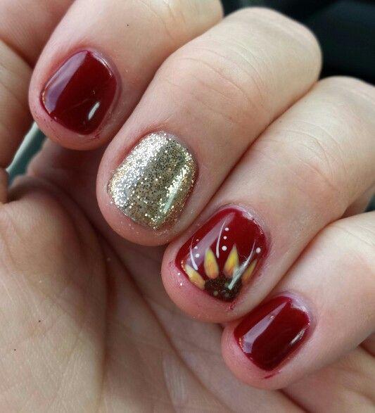 Sunflower Nail Art Sunflower Nail Art Sunflower Nails Fall Toe Nails