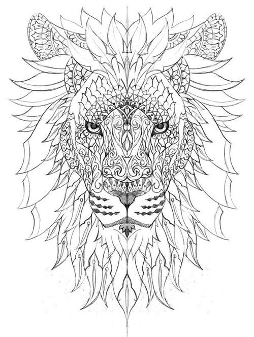 Coloring Page Lion Coloring Pages Mandala Coloring Pages Mandala Coloring