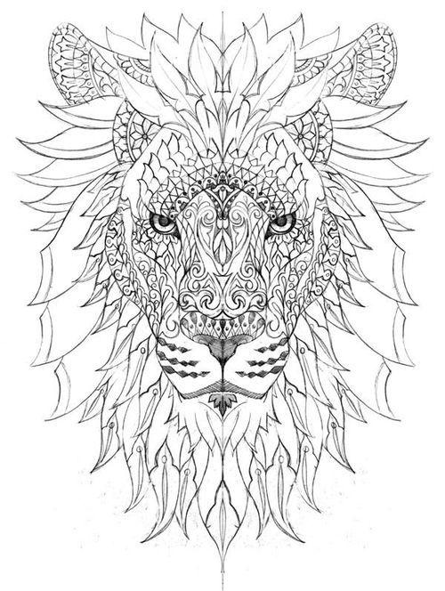 Coloring Page Lion Coloring Pages Mandala Coloring Pages Watercolor Lion