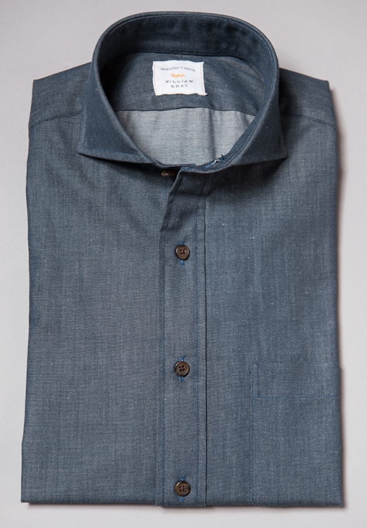 The Rockwell is a shirt that you'll keep coming back to—one that every man needs in his closet. With a modern cutaway collar, this dressed-up denim shirt can go from work to weekend with ease.