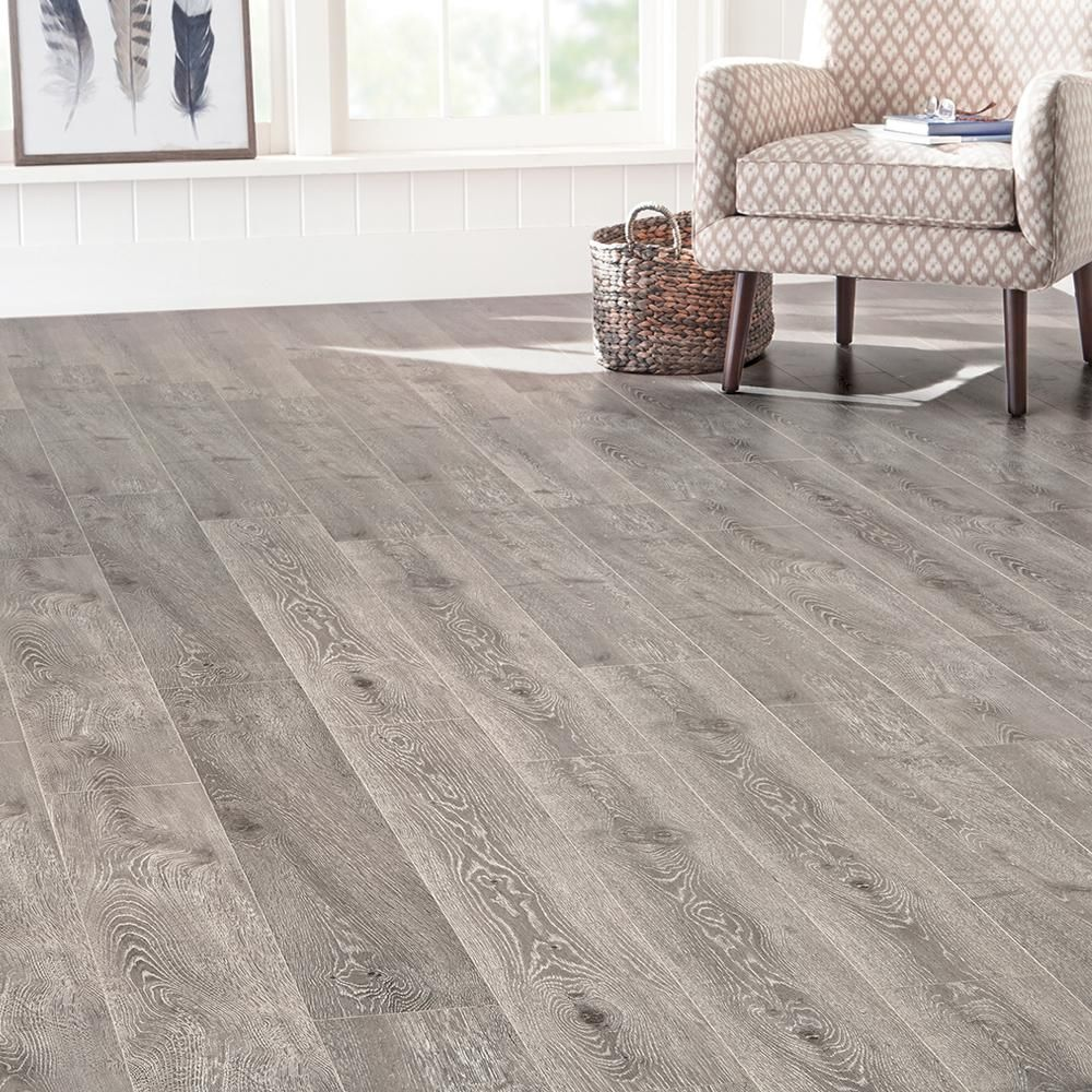 Home Decorators Collection Eir Randell Oak 12 Mm Thick X 7 56 In Wide X 47 72 In Length Laminate Floori Laminate Flooring Laminate Flooring Basement Flooring