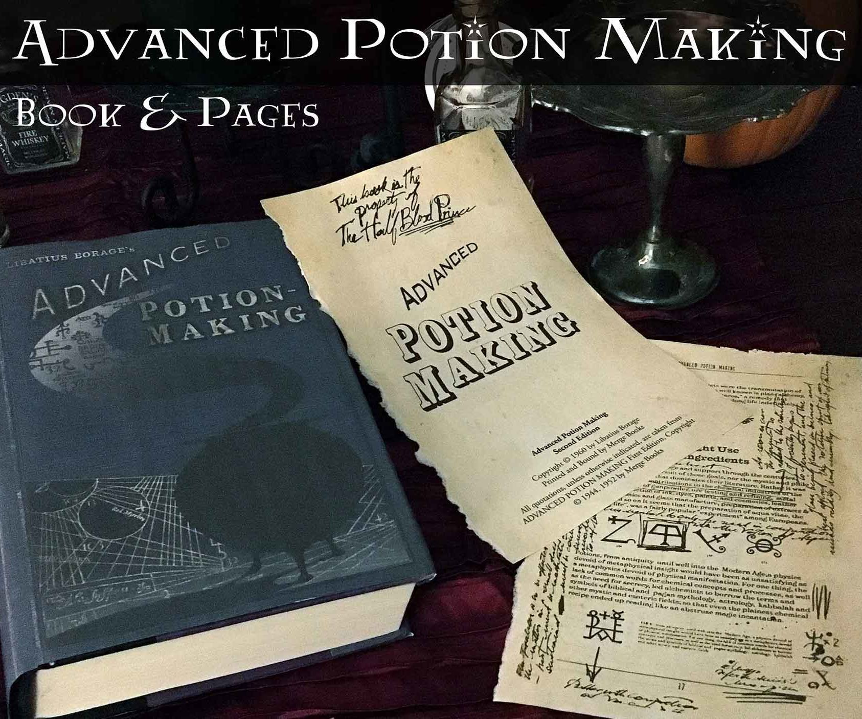 Old Wizard Potion Book Pages