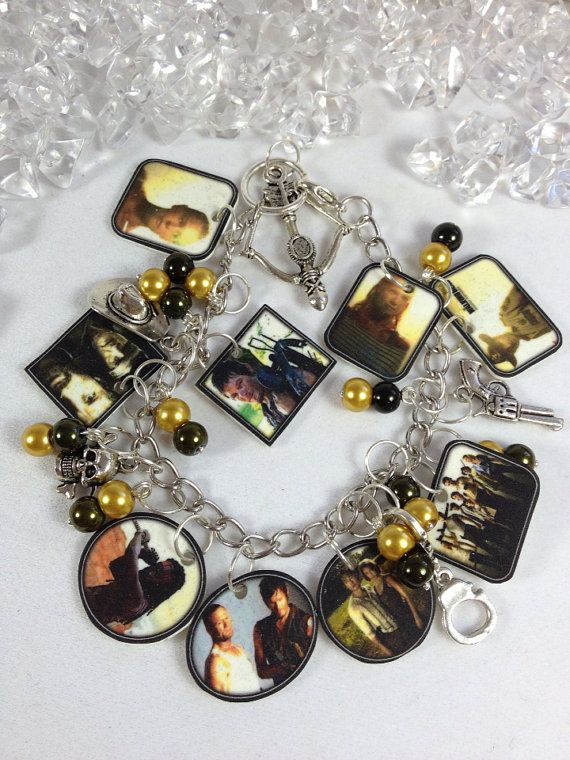 Walking Dead Photo Charm Bracelet by EnYaFaceDesigns on Etsy, $25.00