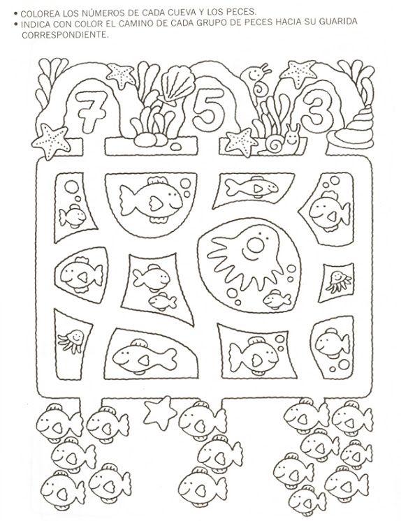 Spanish Count Color Worksheet