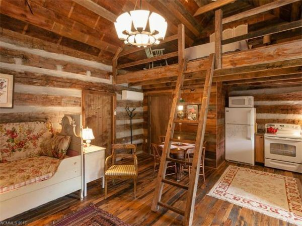Authentic Log Cabin With Flat Faced Logs Over 100 Years Old. Beautifully  Rebuilt And Restored, Tucked Away In The Mountains Of NC With Split Rail  Fence, ...