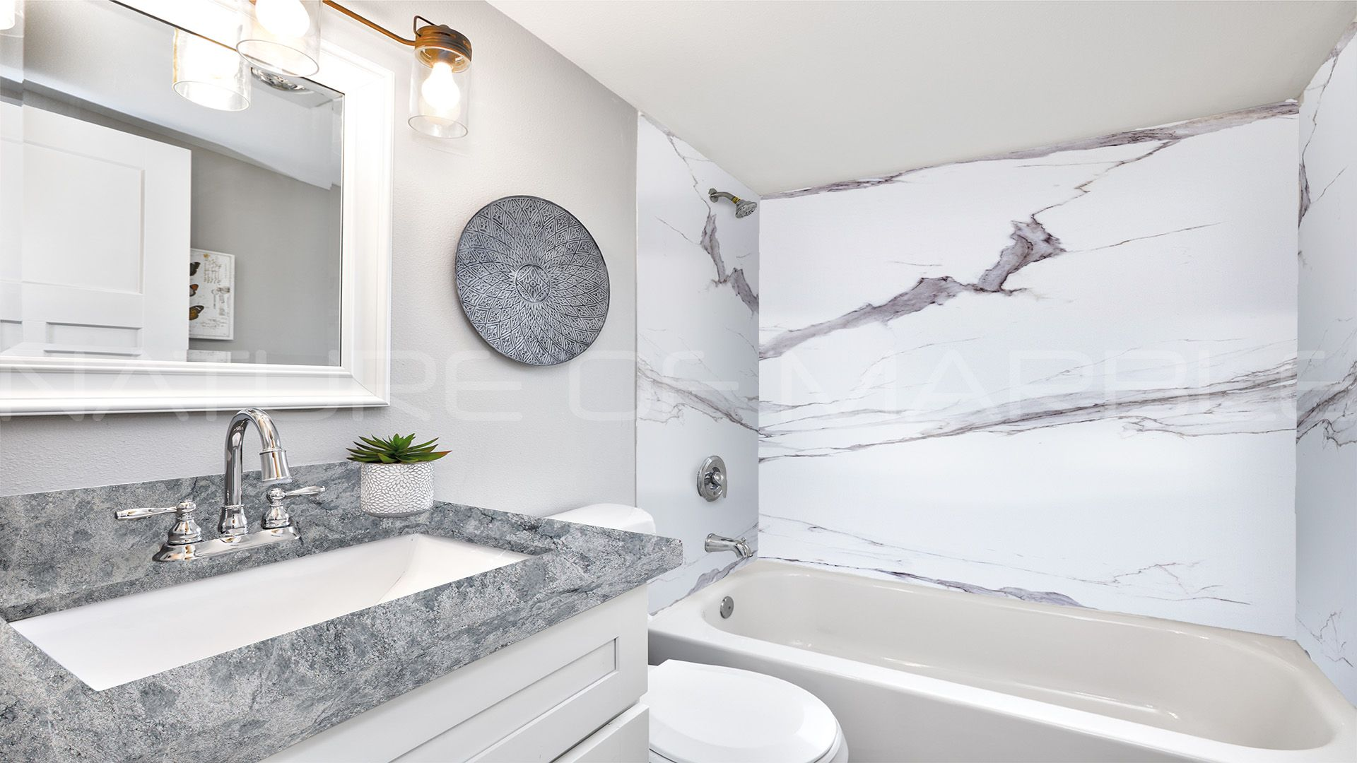 Turn Your Bathroom Into A Calm Quiet Space With Azul Aran Granite