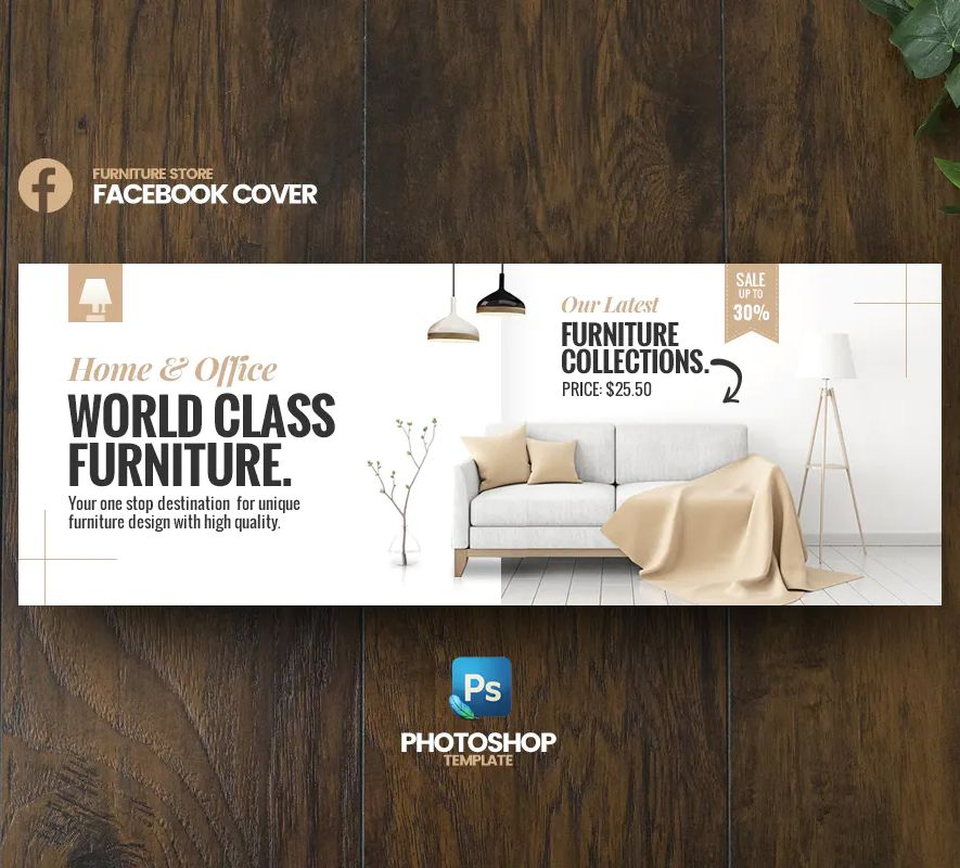 Furniture Facebook Cover Template Psd Banner Design Inspiration Facebook Cover Design Banner Design Layout