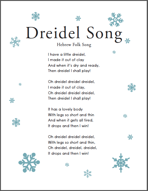 Dreidel Song - I have a little dreidel - Jewish Music