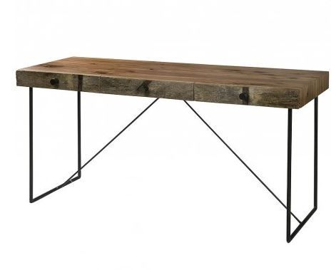 Industrial Reclaimed Wood Desk 2 X 2 Metal Frame What We Make Metal Furniture Design Industrial Design Furniture Furniture Design