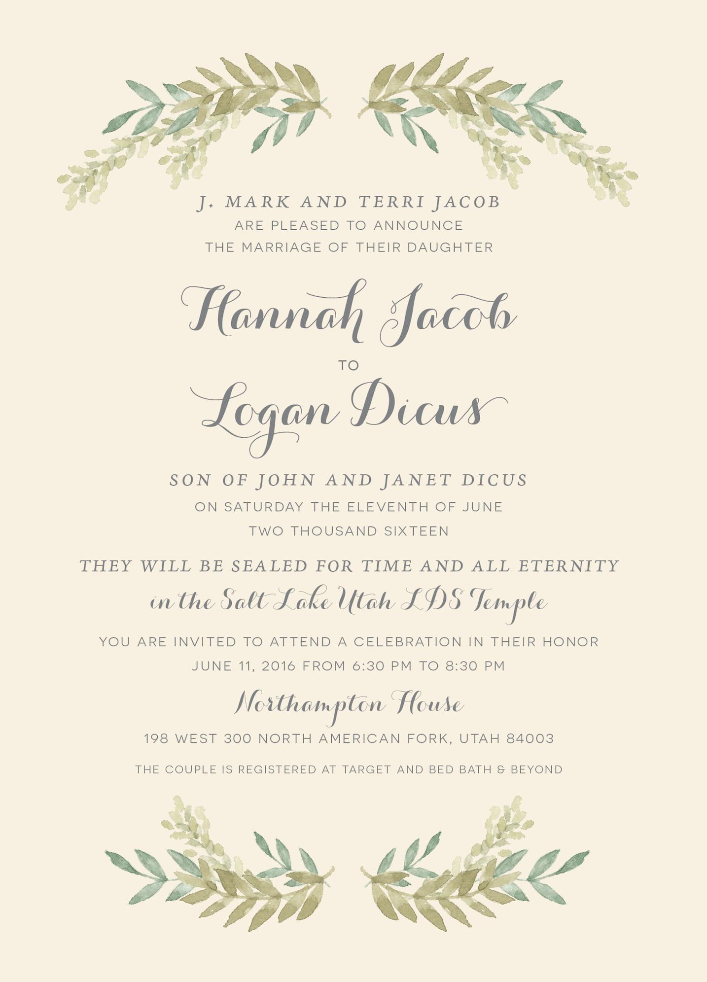 The invitation maker offers high quality custom wedding invitations hannah and logan invitation maker stopboris Choice Image