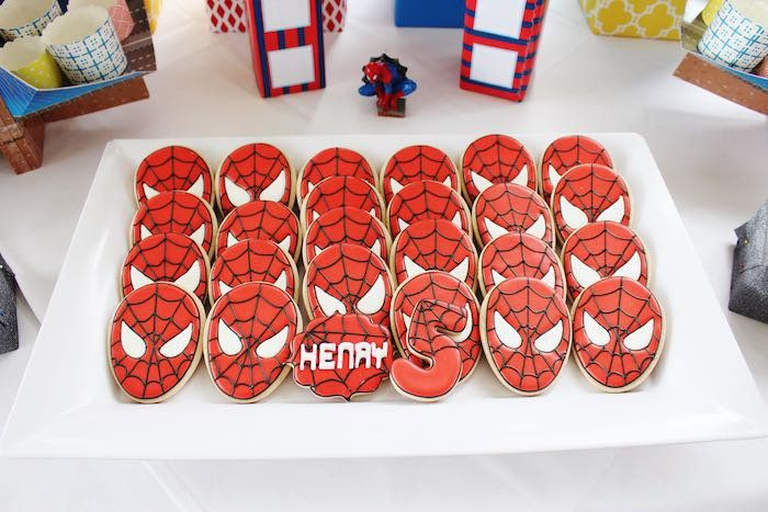 Pin for Later: Amazing Spider-Man-Themed Birthday Party Fit For a Superhero