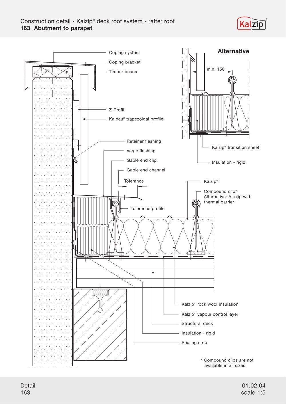 Kalzip Construction Details Archiexpo Construction Architecture Details Roof Construction