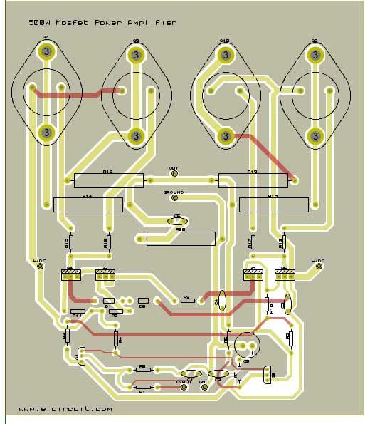 [SCHEMATICS_4NL]  500W Mosfet Power Amplifier 2SK176, 2SJ56 | Power amplifiers, Audio  amplifier, Diy amplifier | Free Diagrams Amplifiers Mosfet 500 Watts |  | Pinterest