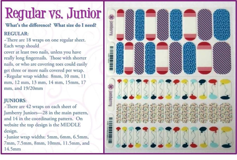 Wrap Measurement Chart For Adult And Junior Wraps Jamberry Addict