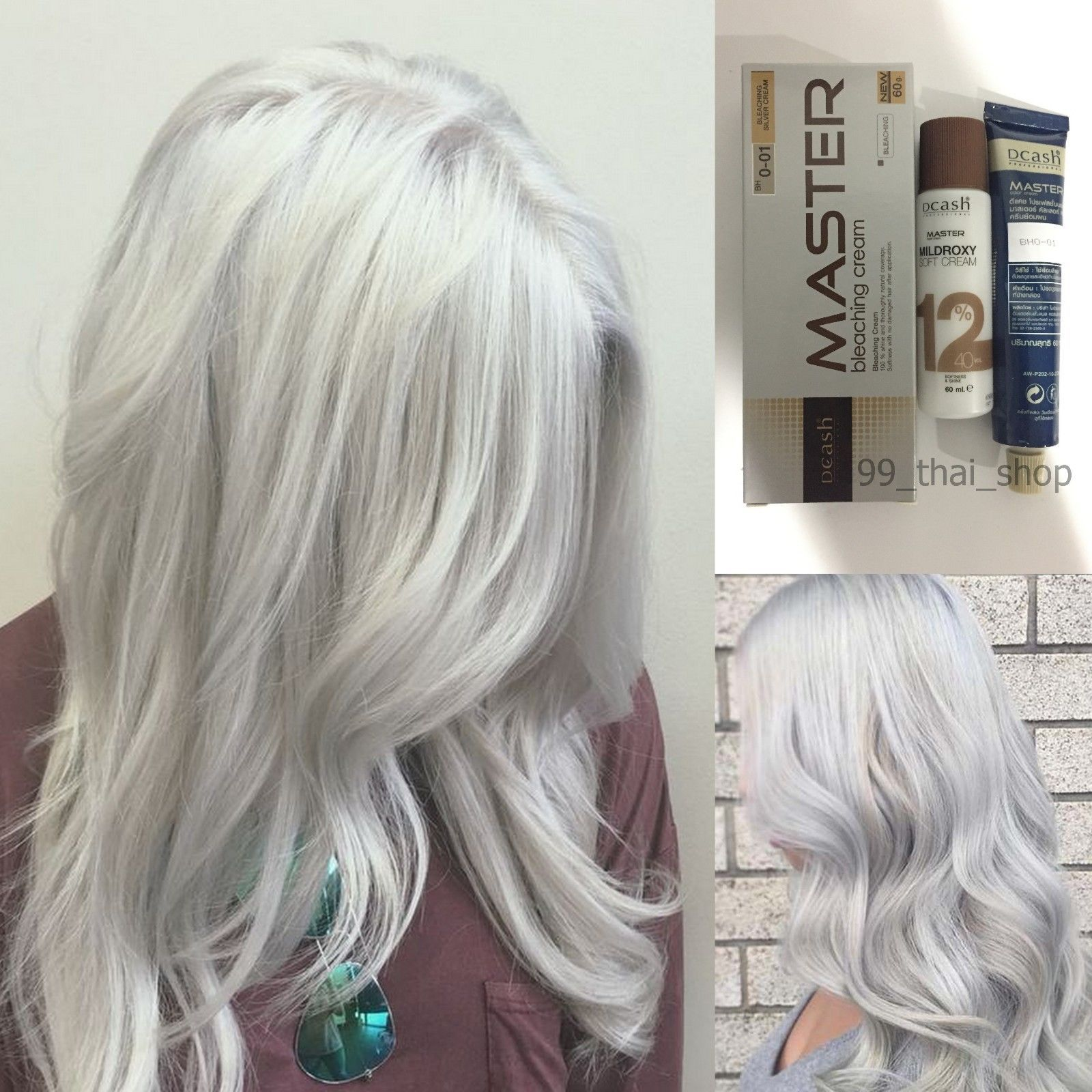 Dcash Master Permanent Hair Dye Bh0 01 Silver Hair Bleach Color