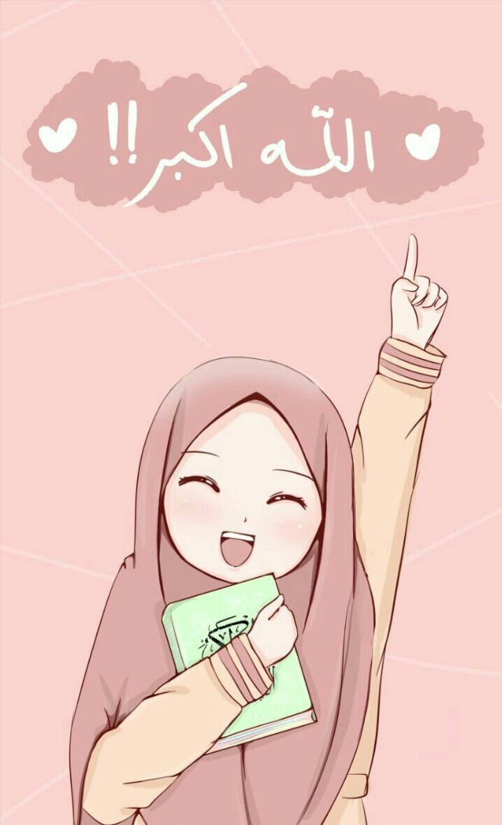 Wallpaper Hp Kartun Muslimah