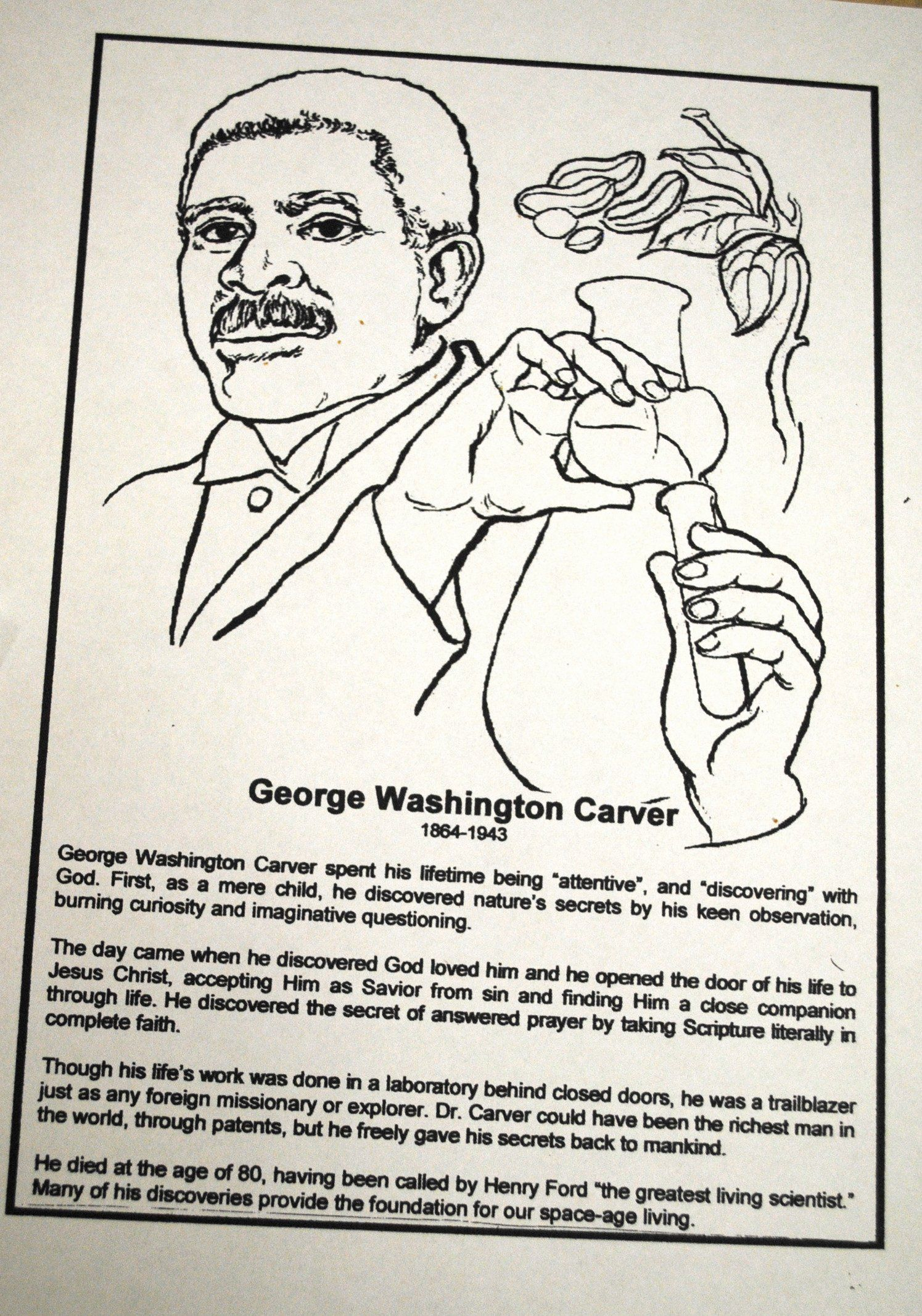 George Washington Carver Coloring Page Fresh Sunshine My