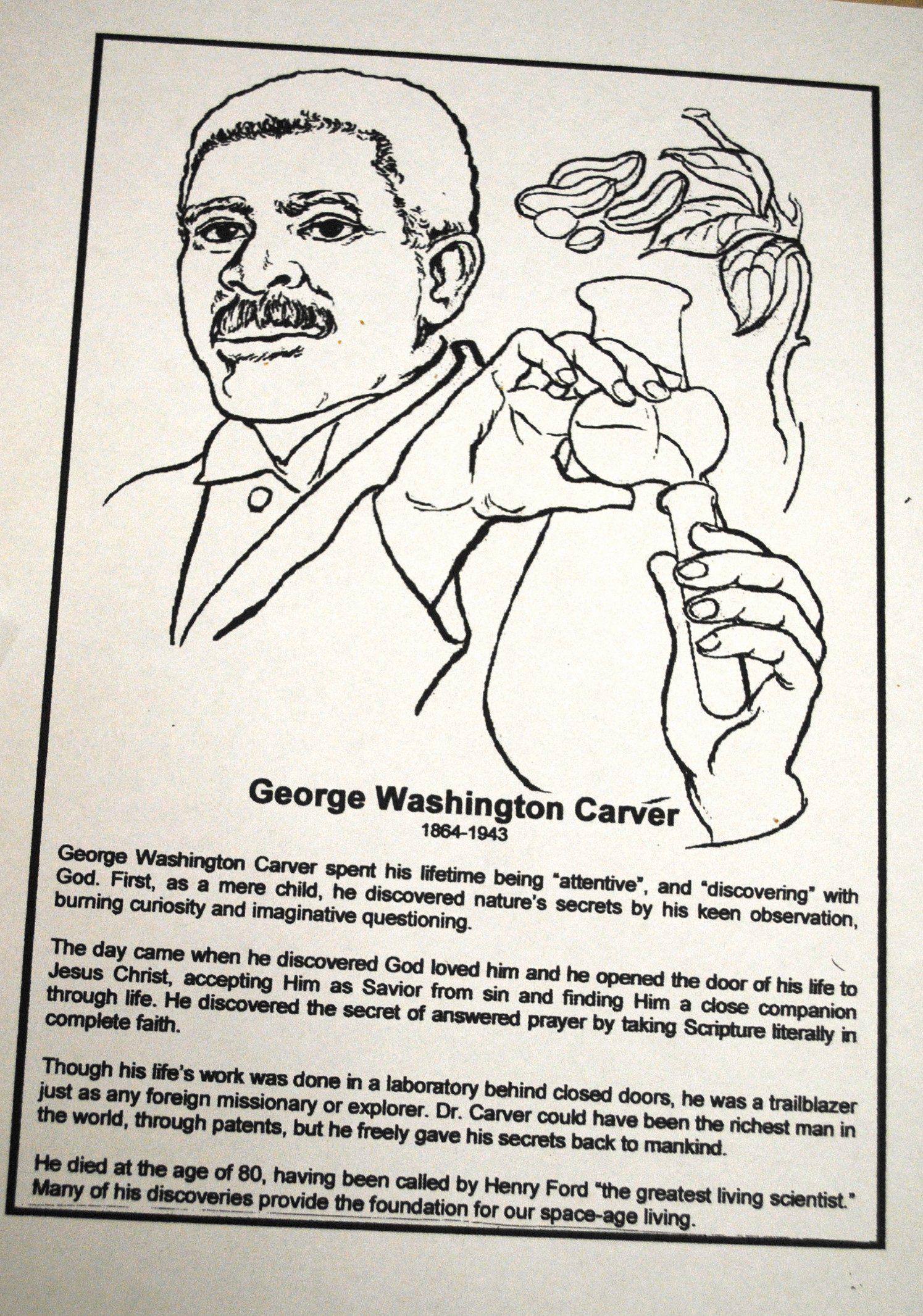 George Washington Carver Coloring Page Fresh Sunshine My