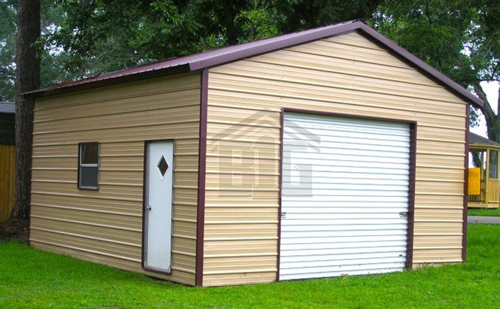 Lennon Garage 12x20x10 Big Buildings Direct In 2020 Garage Door Design Metal Buildings Metal Garages