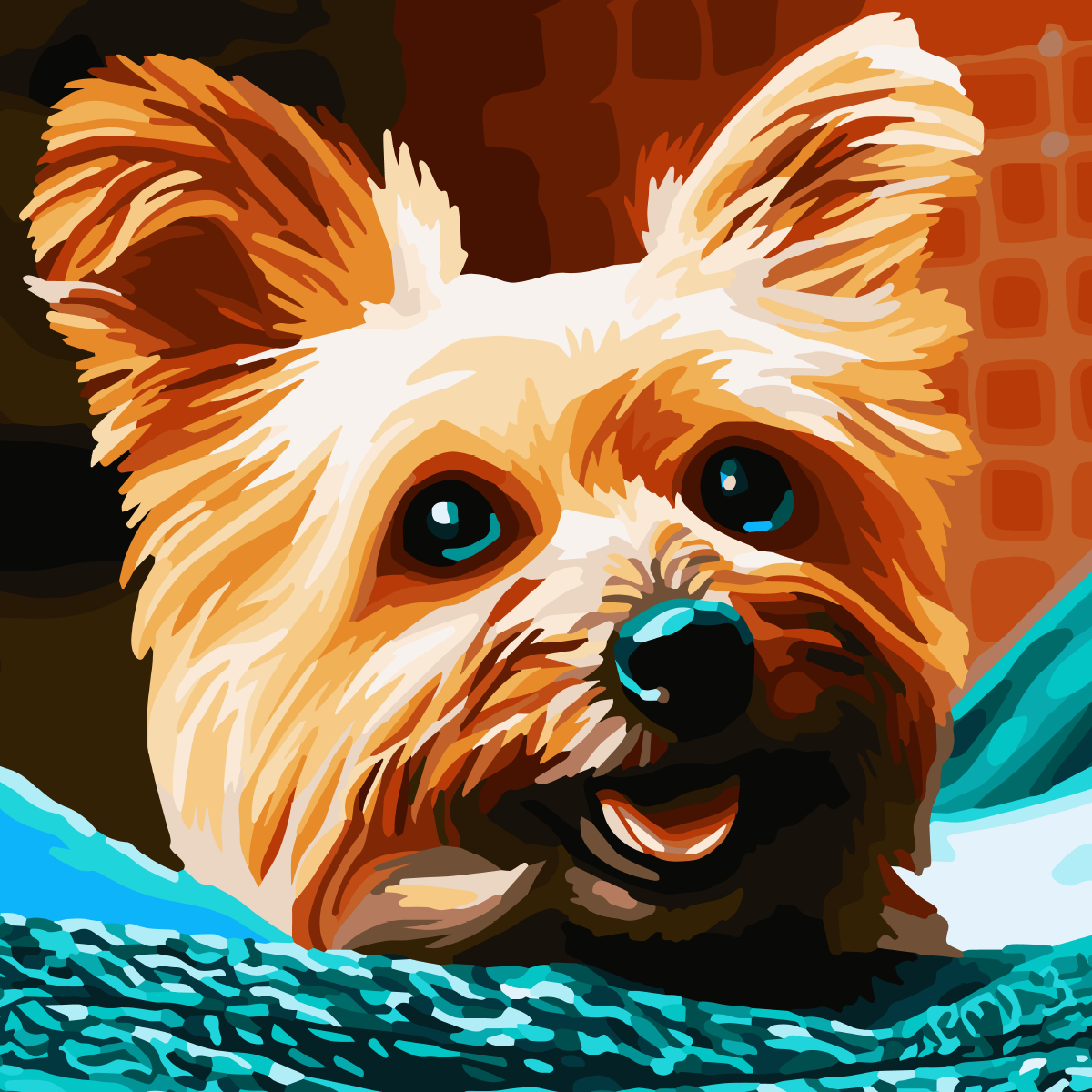 Coloring This Cute Dog Is A Great Pleasure In 2020 Happy Paintings April Art Coloring Pictures