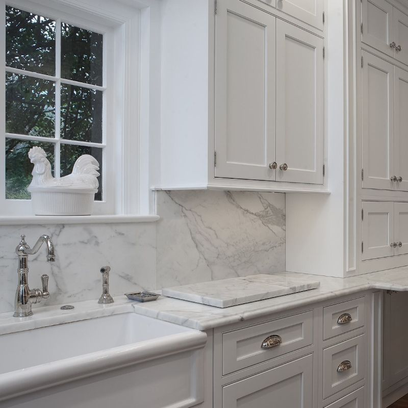 6 Kitchen Backsplash Ideas That Will Transform Your Space: 5 Inspired Solid Slab Granite, Marble Or Quartz Backsplash