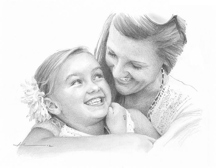 Mom and daughter by Mike Theuer - WetCanvas | Pencil ...