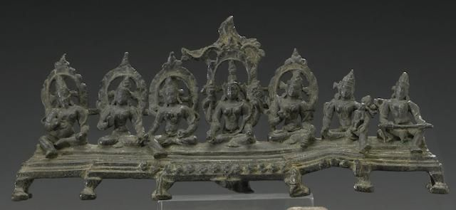 An Indian bronze Pala shrine with Mother Goddess