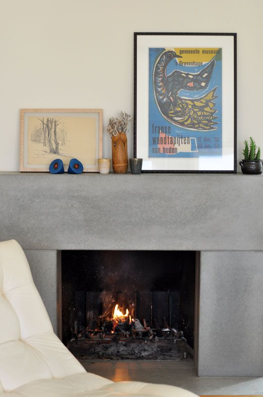 Unexpected Guests Kim Schoen Sfgirlbybay Concrete Fireplace Fireplace Surrounds Home