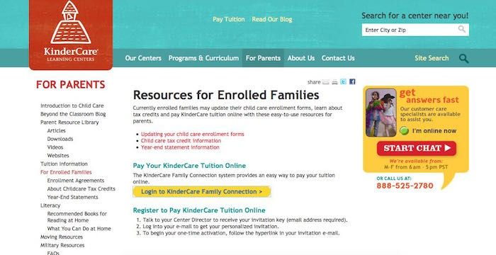 Kindercare Bill Pay Online Login Customer Service Sign In