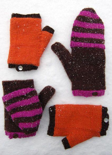 6ply Flip Top Mittens | Gloves | Pinterest | Stricken, Anleitungen ...