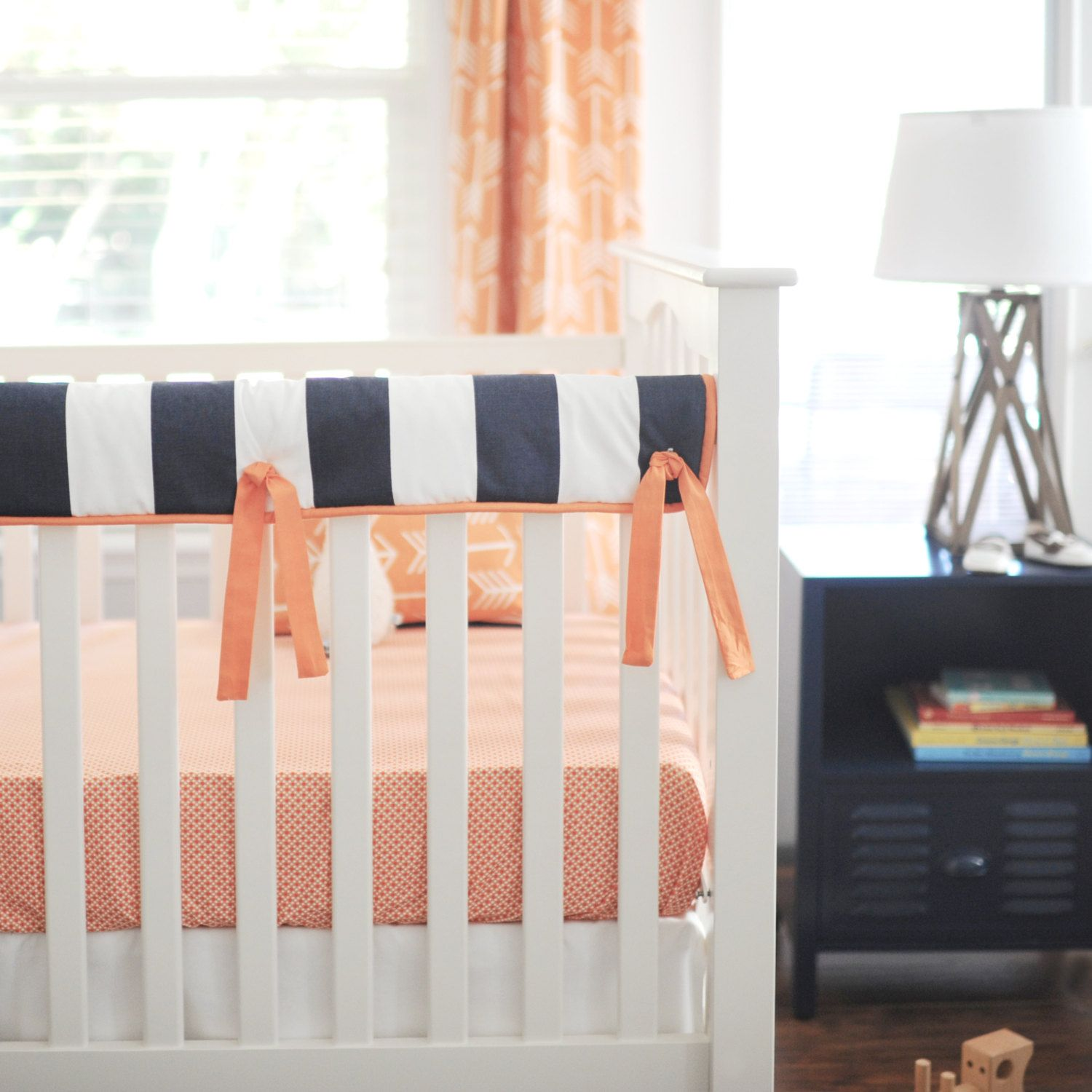 Crib rail cover/guard with ties (With images) Bumperless