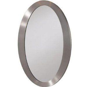 Brushed Nickel Oval Mirror | Master bath remodel, Mirror ...