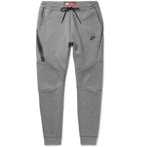 a2ca8e755006  nike  cloth  . NIKE Slim-Fit Tapered Cotton-Blend Tech Fleece Sweatpants.