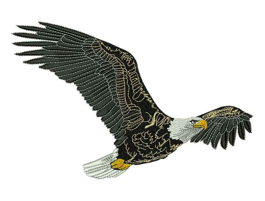Águila real diseño grande para bordado #eagle #indian #embroidery ...