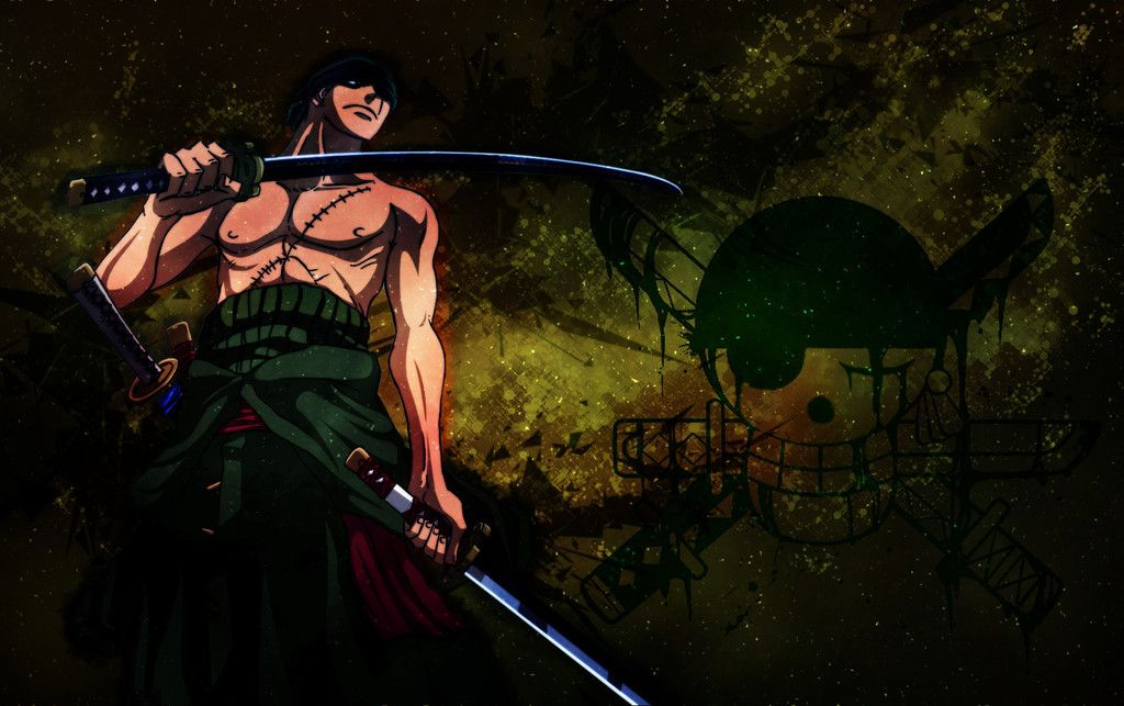 Roronoa Zoro Anime Boy One Piece Wallpaper Silhouette People Beatles Poster Roronoa Zoro