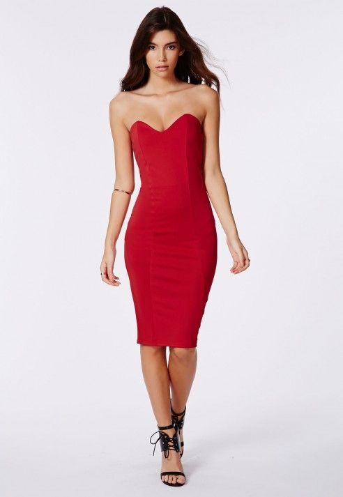 e6c64cb31b Matilde Bandeau Bodycon Midi Dress - Dresses - Midi Dress - Missguided