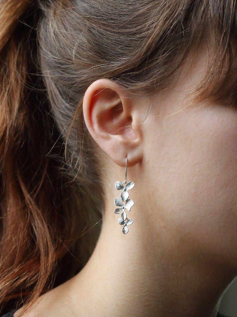 ca7a6bf1f Gilded orchid earrings | Fashion Through My Eyes | Wedding earrings ...