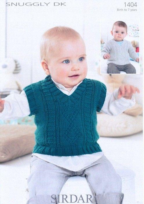 Sirdar--Tank and Sweater (birth - age 7)   tejidos para niños ...