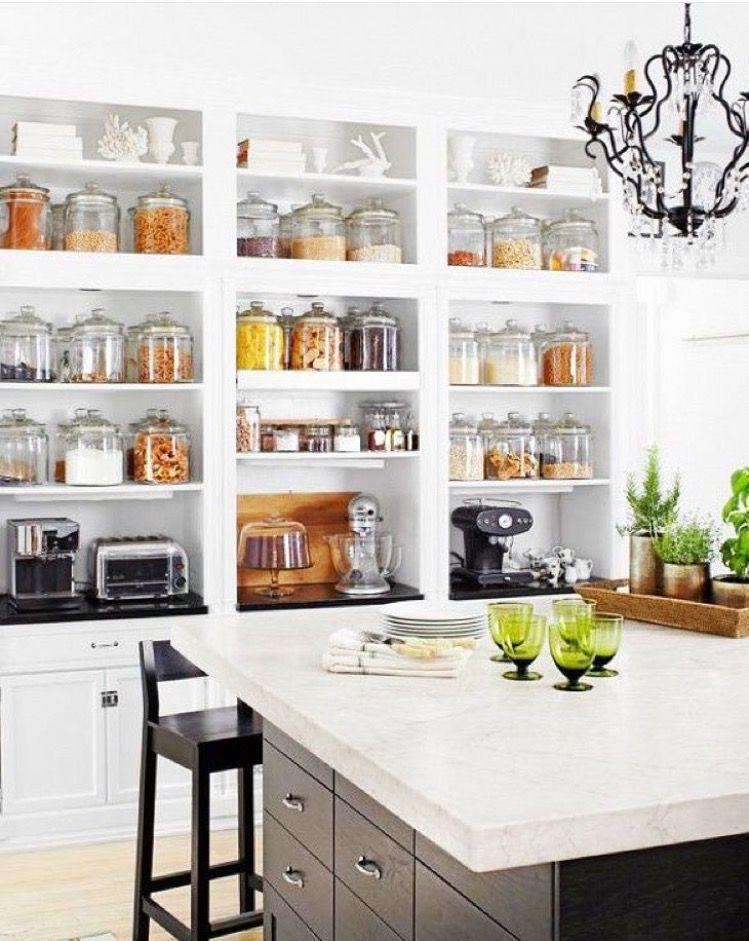 all the organization house inspiration pinterest kitchen rh pinterest com Open Kitchen Cabinets Shaker Open Shelve Kitchen
