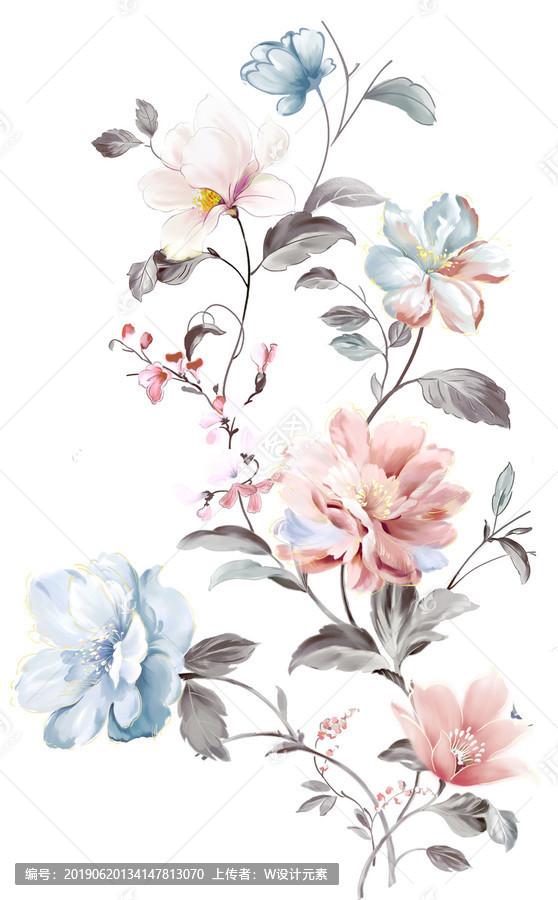 Textile flower pattern curtains wallpaper - Huitu.com www.huitu.com