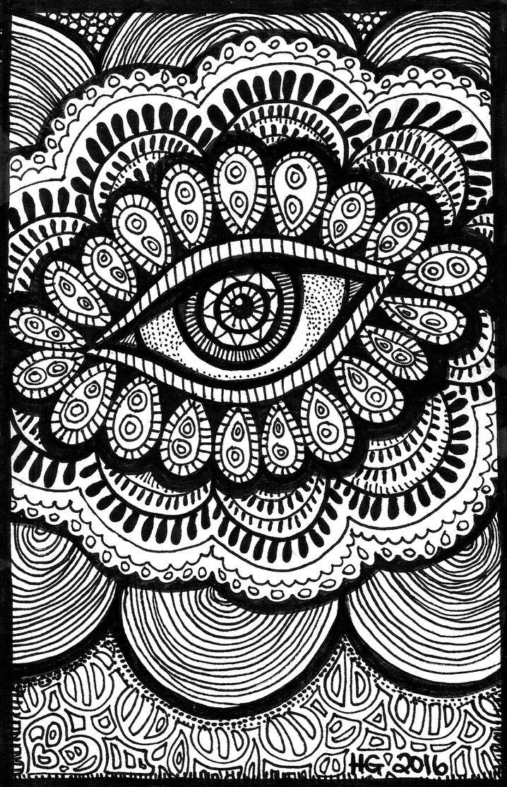 Lines of the Eye by Iguruwashi DeviantArt coloringpage
