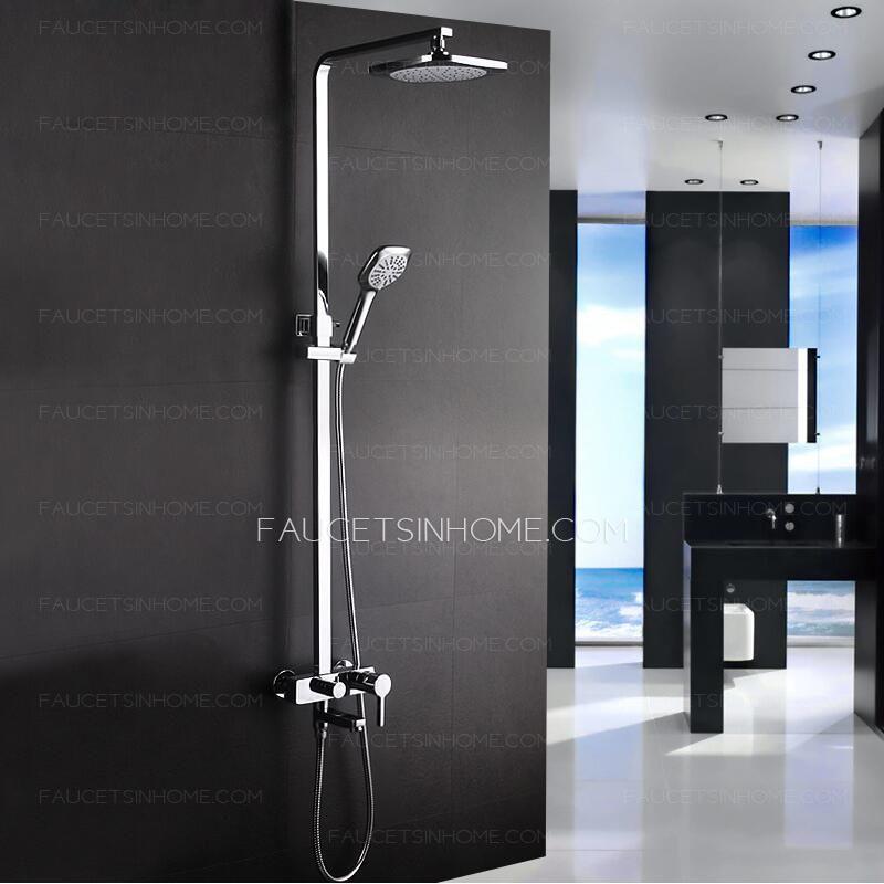 Modern Designed Outdoor Exposed Shower Faucet System Shower
