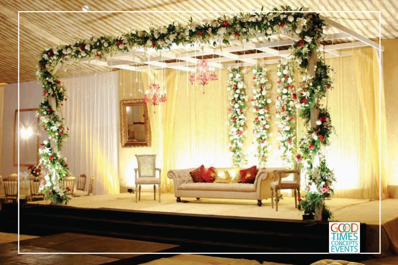 Wedding stage decoration delhi  Best Events Management Company in Delhi Good Times Concepts Events
