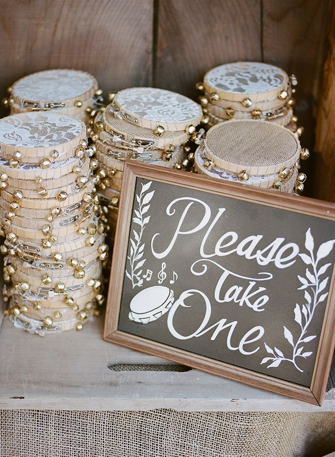 DIY lace tambourines #ceremonyideas