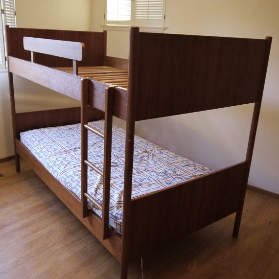 Danish Modern Twin Size Bunk Beds By Danishgarage On Etsy